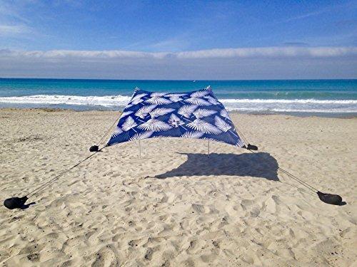 Sand Anchor-Tenda da spiaggia con tettuccio parasole, per portatile, diversi colori
