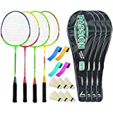 Guru PassionBR08 Series-COMBO-4 Badminton Racquets Set Pack Of Four With Four Cover Six Shuttlecock & Four Hand...