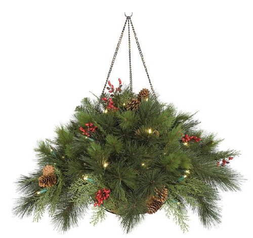 how to make christmas hanging baskets