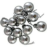 FunRobbers Christmas Decoration Hanging Silver Balls Small- Pack Of 12