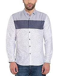 Locomotive Men's Casual Shirt (15110001471436_LMSH010651_M_White)