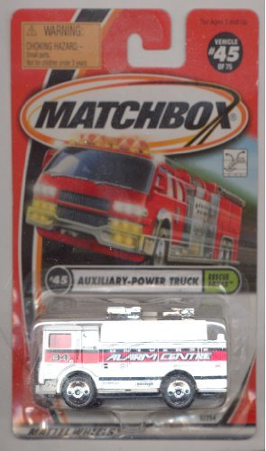 Matchbox 1999-45/75 Rescue Squad WHITE Auxiliary-Power Truck 1:64 Scale - 1