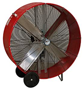 MaxxAir BF36BD RED High Velocity Belt Drive Drum Fan, 36-Inches, Red