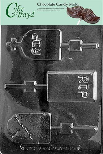 Cybrtrayd H119 Halloween Chocolate Candy Mold, Assorted Size Headstones by Mifgash, LLC, T/A CybrTrayd