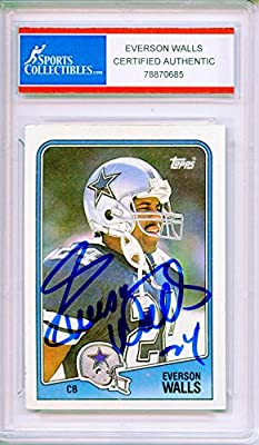 Everson Walls Autographed Dallas Cowboys Trading Card