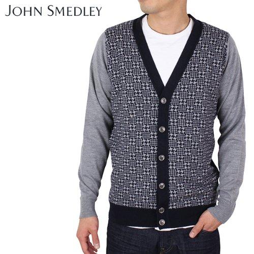 (ジョンスメドレー) John Smedley ジョンスメドレー DRYDEN カシミアシルク混 ウールカーディガン[MIDNIGHT] Mサイズ