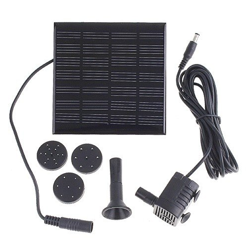 1.12W Solar Water Pump Power Panel Kit Fountain Pool Garden Pond Submersible Watering