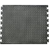 "Foot-Rest - Interlocking Rubber Anti-Fatigue Mat - Black in color - 1/2"" x 28"" x 31"""