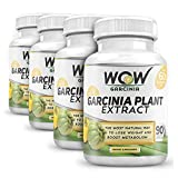 Wow Garcinia Cambogia , 90 Veg Capsules - 100% Natural - Highly Recommended Best Weight Loss Supplement And Appetite...