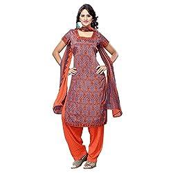 Triveni Women's Crape Salwar Kameez Dress Material (TSHCSSK6751D_Multi)