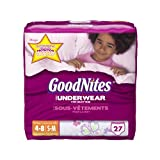 Huggies GoodNites Underwear, Girls, Small/Medium, 27 Count