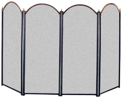 Panacea 15106 4 Panel Fireplace Screen, Antique
