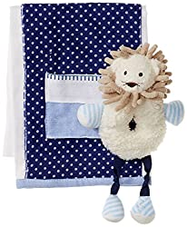 Mud Pie Little Boys Lion Rattle and Burp Gift Set, Multi, One Size