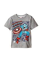 Marvel Camiseta Manga Corta Captain America (Gris)