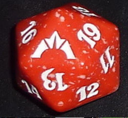 MTG Magic the Gathering Gatecrash BOROS Red Spin Down Counter NEW Die - 1