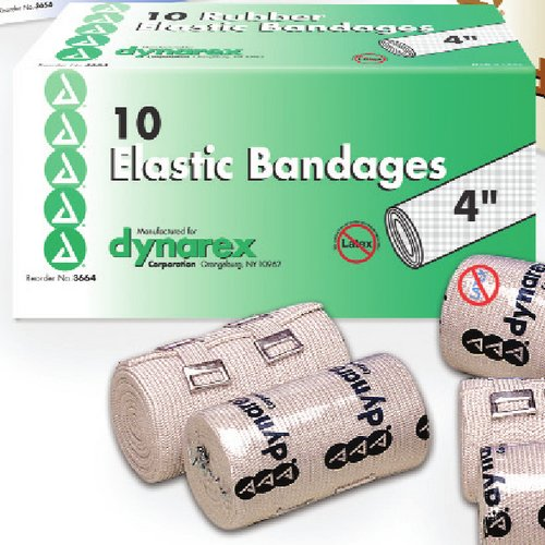 Ace Bandage 4', Latex Free, Clip Closure,10/bx