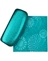 Premium Eyeglass Case by SPUNKYSoul Coated Smooth Glitter Free Cleaning Cloth