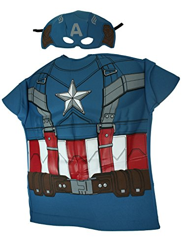 Rubies Captain America Retro Muscle Chest Shirt Set [620006]