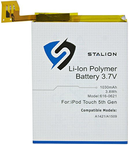 iPod Replacement Battery : Stalion® Strength Li-Polymer Battery 1030mAh 3.7V for Apple iPod Touch 5 (5th Generation)[24-Month Warranty](APN: 616-0621 : Apple Model A1421 / A1509) (Ipod Battery 5th Generation compare prices)