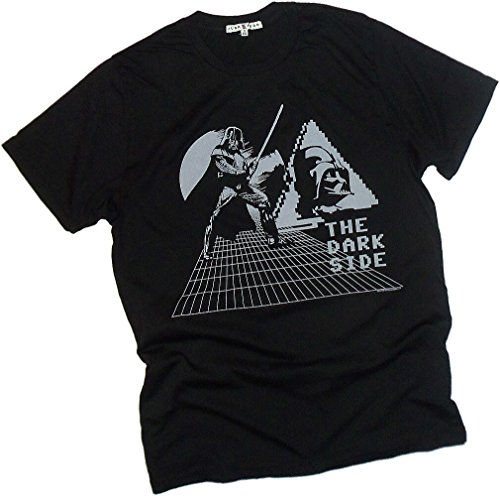 The Dark Side -- Darth Vader Retro Print -- Star Wars -- Junk Food Mens T-Shirt
