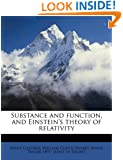 Substance and function, and Einstein's theory of relativity