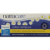 Natracare Organic All Cotton Tampons, Super with Applicator,  16 Count boxes (Pack of 12)