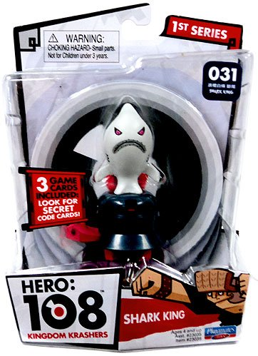Hero 108 Kingdom Krashers Series 1 Action Figure #031 Shark King - 1