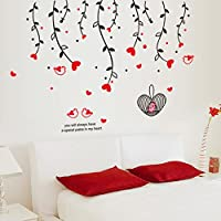 Cortina Hanging Flowers Theme Vinyl Wall Stickers Multi Color