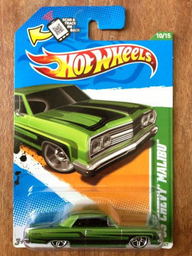 2012 HOT WHEELS 1:64 SCALE '65 CHEVY MALIBU TREASURE HUNT #10/15 - 1