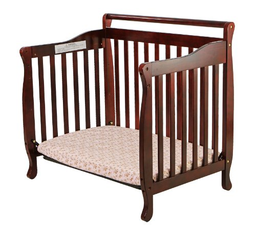 Dream On Me, 3 In 1 Portable Convertible Crib, Cherry front-1006256