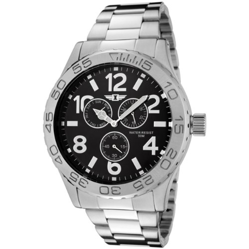 I By Invicta Men's 41704-003 Stainless Steel Black Dial Watch