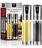 ★NEW★ Oil & Vinegar Spray Set. 1 X Olive Oil Sprayer and 1 X Vinegar Sprayer - 2 Spray Bottles with Glass and Aluminuim Finish. Great Alternative to Oil Misters Dispensers & Cruets