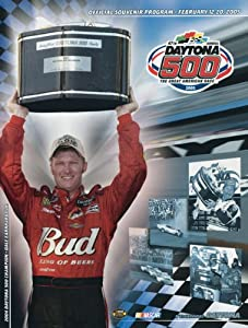 NASCAR Canvas 36 x 48 Daytona 500 Program Print Race Year: 47th Annual - 2005 by Mounted Memories