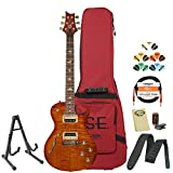 GoDpsMusic JB-ZM2VS-KIT-1 PRS SE Zach Myers Signature Vintage Sunburst Electric Guitar with Gig Bag, Stand, Tuner, Cable, Picks, Strap and Cloth