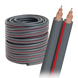 AudioQuest X-2 bulk speaker cable - 14 AWG 50 (15.24m) spool - gray jacket