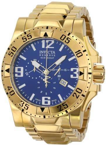 Invicta Men's 5676 Reserve Collection Excursion Chronograph 18k Gold-Plated Watch