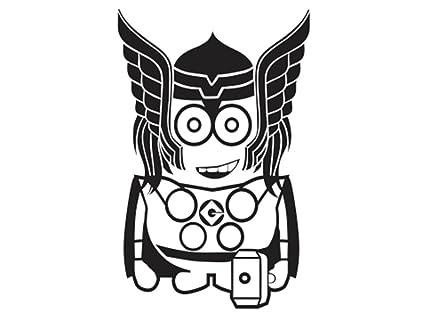 Minion Thor Thor Minion Vinyl Decal
