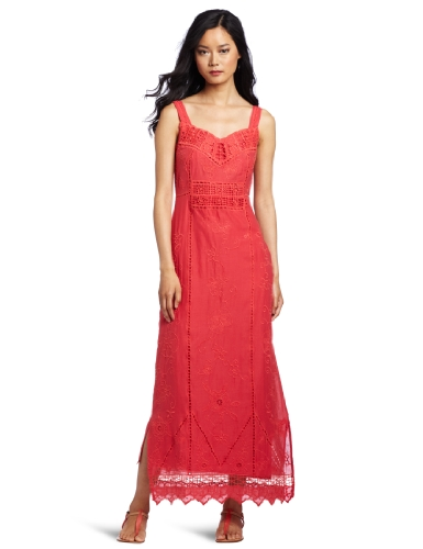 Yoana Baraschi Women's Ceylon Baroque Maxi Dress, Coral, 8