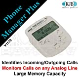 KJB Security V1170 Phone Manager Plus. Identifies the source of incoming/outgoing calls by displaying the number of the call. Small size. Monitors calls on any analog line.  Low power consummption. Large memory capacity (can record up to 2000 calls).