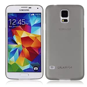 For Samsung Galaxy S5 S V i9600 G900 0.3mm Ultra Thin Matte Back Case Cover Skin Grey