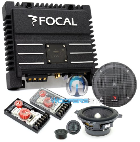"Pkg 130A1 Sg - Focal 5.25"" 100W Rms Access 1 Series Component Speakers System + Solid2 Black - Focal 2-Channel 200W Rms Power Amplifier"