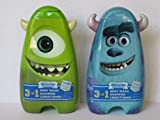 Monsters University 3 in 1 Body Wash, Shampoo, Conditioner (2-14oz) Sully & Mike