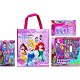 Disney Childrens Cosmetic Gift Set Includes Disney Princess Tote Bag With Disney Princess 8 Pcs Royal Nail Art...