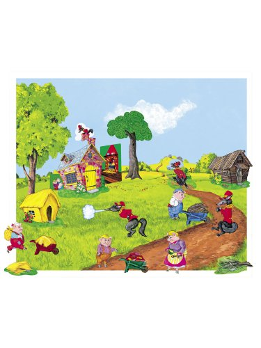 The-Three-Pigs-Flannel-BoardFelt-Story-and-Playboard-set-figures-story-board-and-case