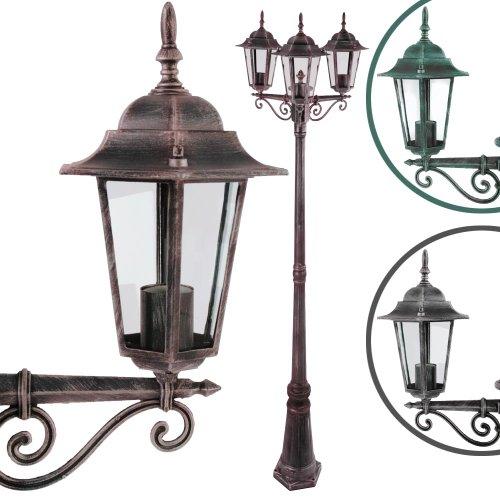 Jago-Gartenleuchte-Auenleuchte-Wegeleuchte-Leuchte-Laterne-inkl-Verankerungsset-aus-Aluminium-Farbwahl