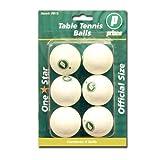DMI Sports Prince 1 Star Table Tennis Balls (White, Pack Of 6)