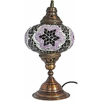 Table Lamp Mosaic Lamps Purple Glass Moroccan Lanterns Turkish Lamp Beds