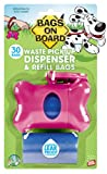 Bags on Board Pink Bone Dispenser with 30 Refill Bags (Pack of 3)
