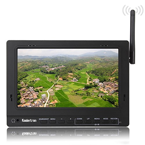 Koolertron 7 Inch 5.8G 32Ch Rc Hd Fpv Dvr Monitor With Sunshade High Resolution Up To 1920×1440 Pixels For Fpv Or Aero Photography 16:9 Or 4:3 Adjustable Display Ratio, No Blue Screen Outdoor