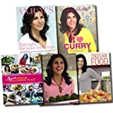 Anjum Anand Anjum Anand Recipe Collection Cooking 5 Books Set (I love Curry, Eat Right for your body type, Indian Food made easy, Anjum's New Indian, Anjum's Indian Vegetarian Feast)